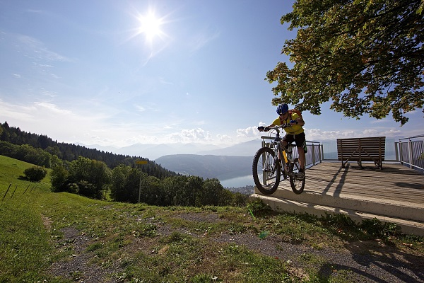 MTB with lake view