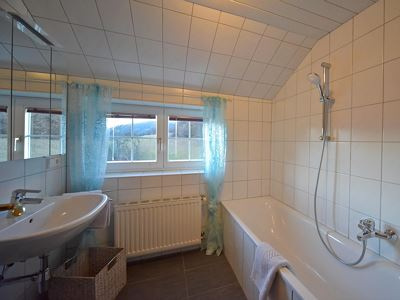 Apartment, shower and bath tub, south
