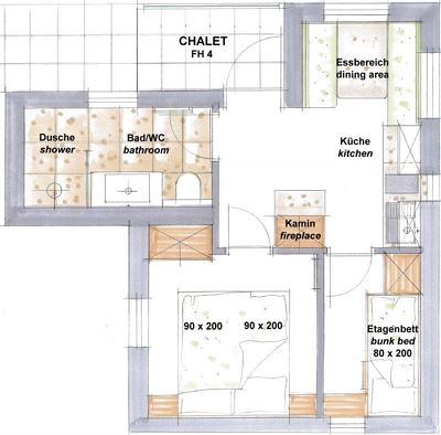 Apartment, shower, toilet, 4 or more bed rooms