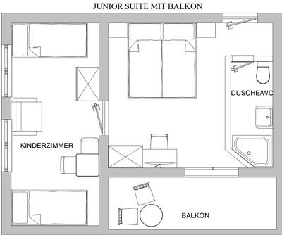 Junior suite, shower, toilet, balcony
