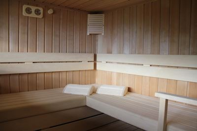 Holiday home, shower, toilet, sauna