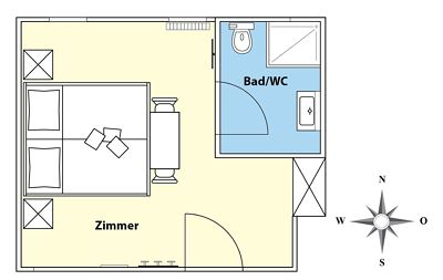 Triple room, shower, toilet, balcony