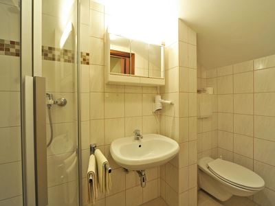 Shared room, shower, toilet, balcony