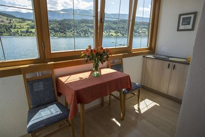 Double room, shower, toilet, lake view