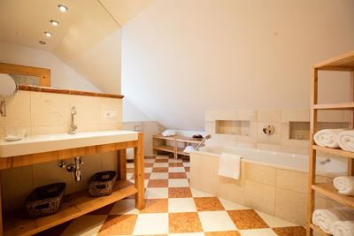 Holiday home, shower and bath, toilet
