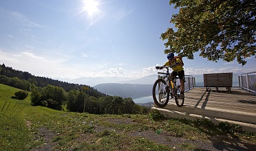 "Mountain biking at the ""Balcony of Stars"""